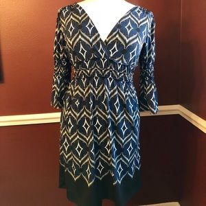 Max Edition Dress Empire Waist Bell Sleeve Size L